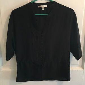 Banana Republic SILK Sheer Black blouse